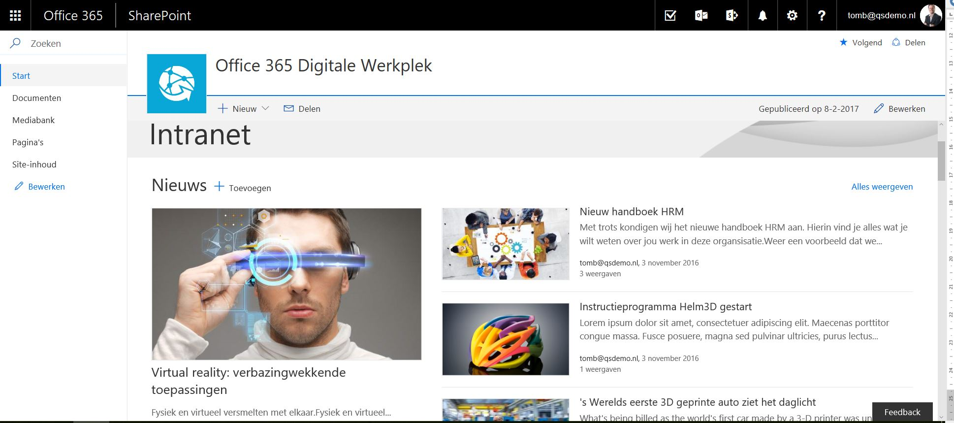 New SharePoint Teamsite