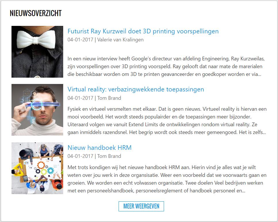 QS newsapp voor SharePoint